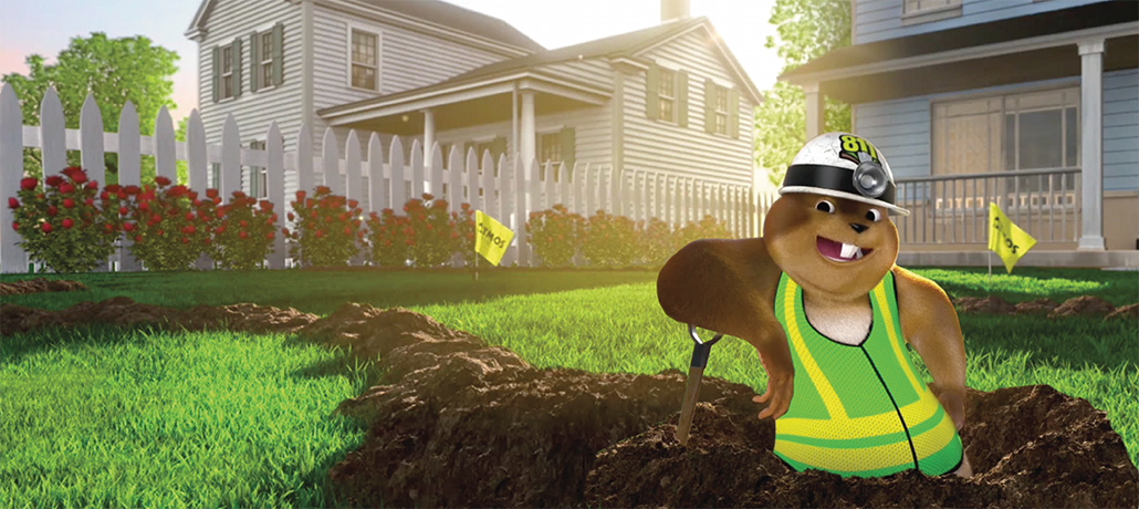 Gus the Gopher reminds you to always Call 811 Before You Dig!
