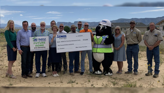 Atmos Energy donates $50,000 to Habitat for Humanity of Montezuma County